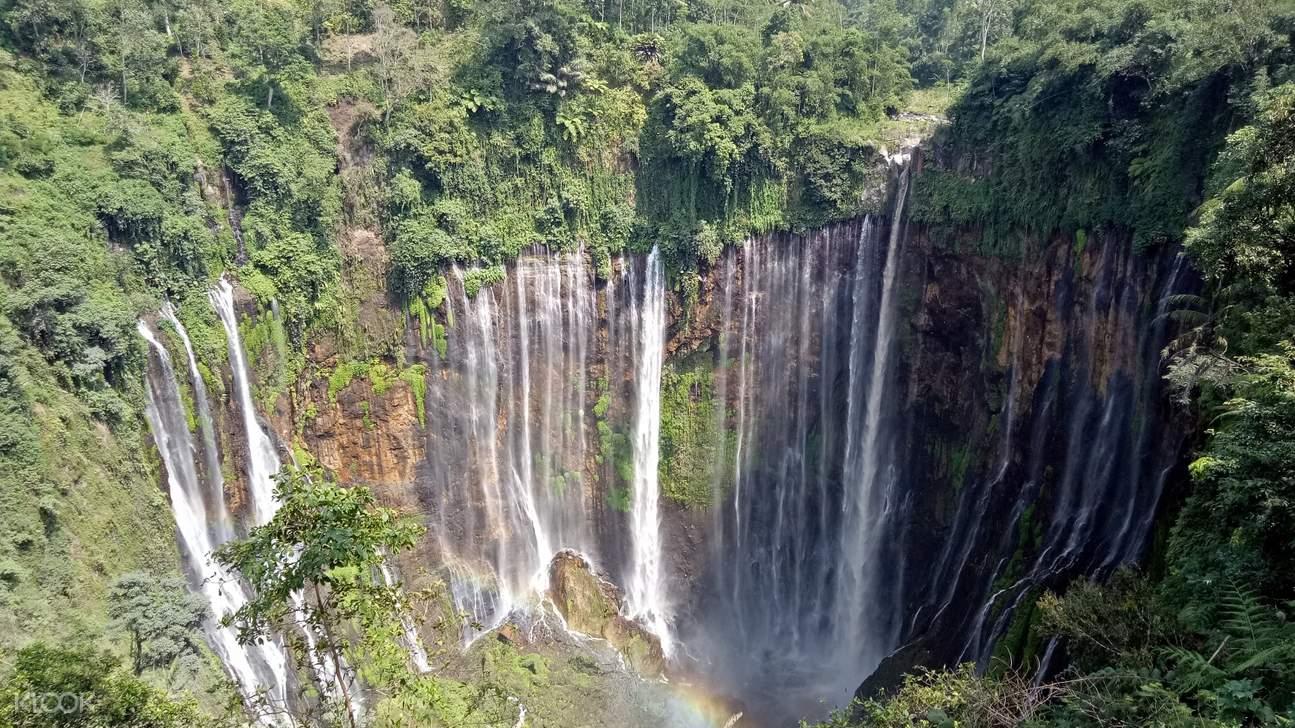 tumpak sewu waterfall view from above